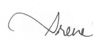 Irene's handwritten signature
