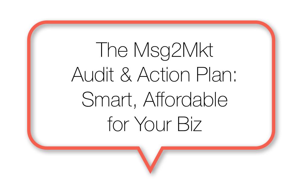 The Msg2Mkt Audit & Action Plan: Smart, Affordable for Your Biz
