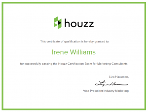 Irene of Msg2Mkt certified Houzz marketing pro